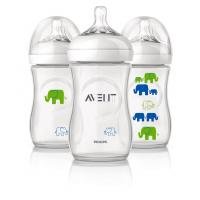 Philips Avent Natural Bottle 9oz/260ml Single Pack (Elephant Boy)