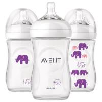 Philips Avent Natural Bottle 9oz/260ml Single Pack (Elephant Girl)