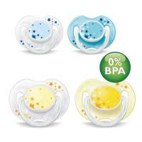 Philips Avent Night Time Soothers 0-6m (Twin Pack)
