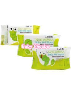 K-MOM Naturefree Baby Wet Wipes 30pcs-1pack
