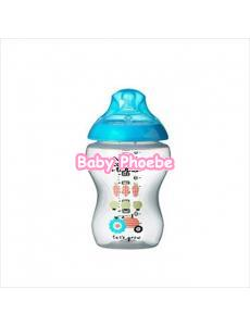 Tommee Tippee:Closer to Nature Decorated Blue Feeding Bottle 260ml/9oz