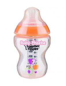 Tommee Tippee:Closer to Nature Decorated Orange Feeding Bottle 260ml/9oz