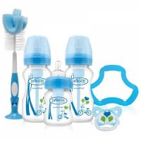 Dr Brown's Wide Neck Option Bottle BLUE Gift Set