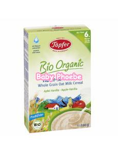 Topfer Bio Organic Whole Grain Oat Milk Cereal Apple-Vanilla 200g 6m+