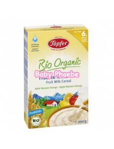 Topfer Bio Organic Fruit Milk Cereal Apple-Banana-Orange 200g 6m+
