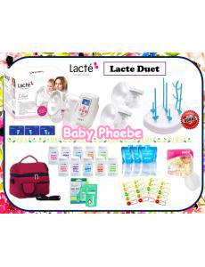 Lacte Duet Double Electric Breastpump Package (With 2nd Gen Soft Breast Shield Kit)