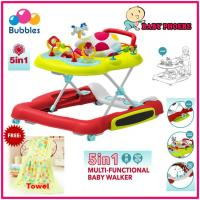 Bubbles 5 in 1 Multi-Functional Baby Walker