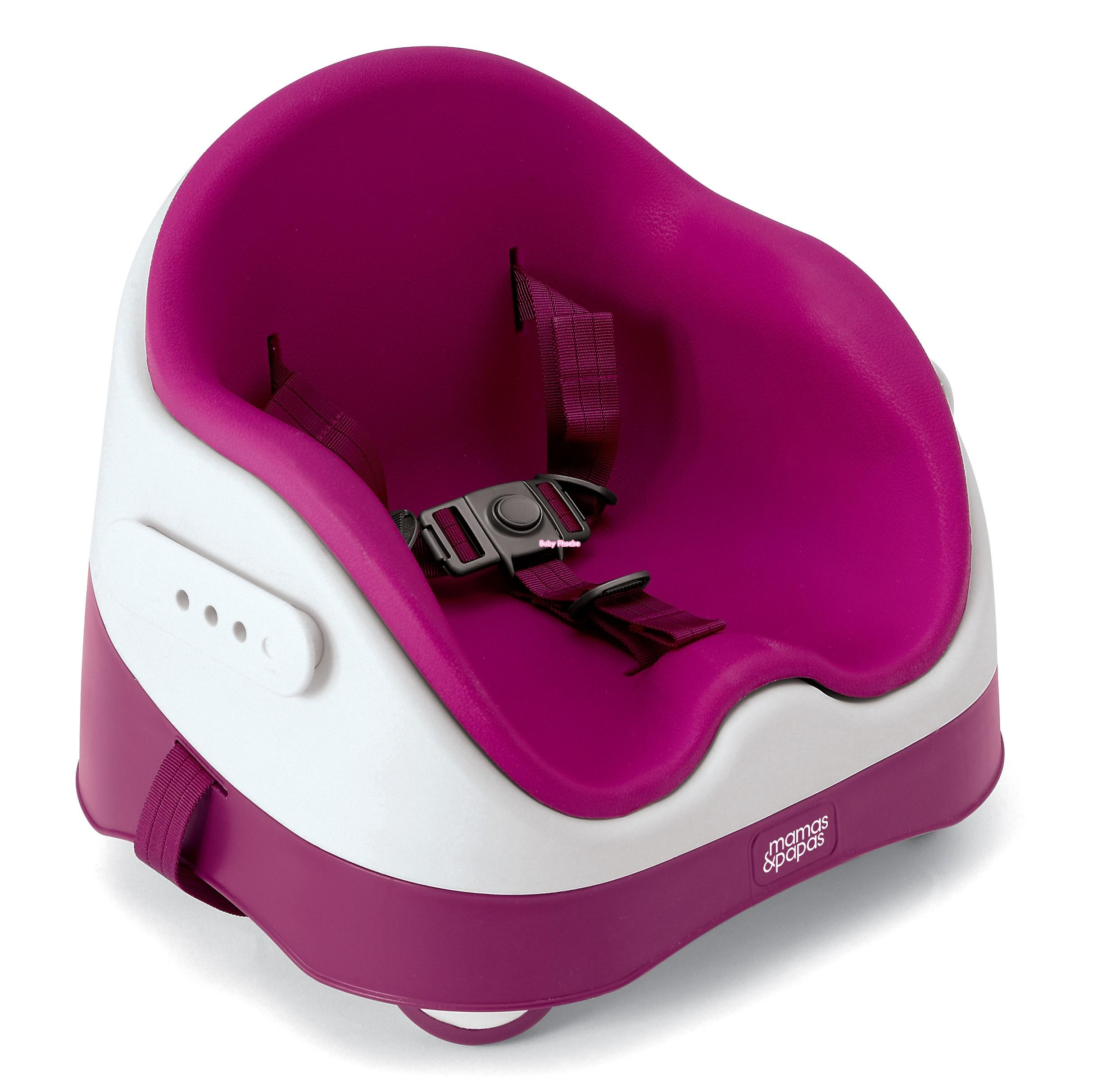 Mamas & Papas Baby Bud Booster Seat Raspberry Baby Seat/High Chair . Full resolution  pic, nominally Width 2487 Height 2413 pixels, pic with #730442.